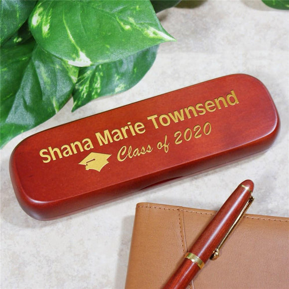 Graduation Rosewood Pen Set-Personalized Gifts