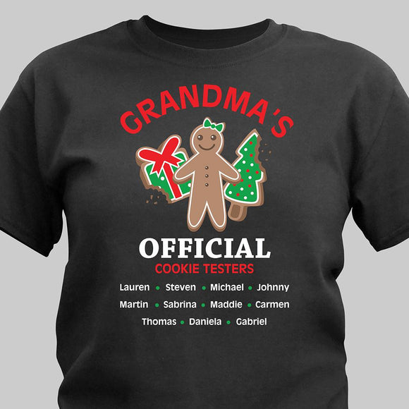Grandmas Official Cookie Testers T-shirt-Personalized Gifts