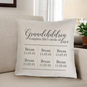 Grandparents Personalized Throw Pillow-Personalized Gifts