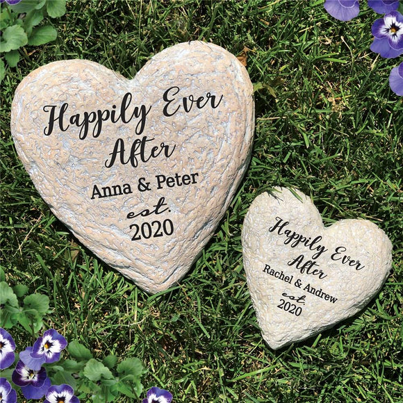 Happily Ever After Heart Garden Stone-Personalized Gifts