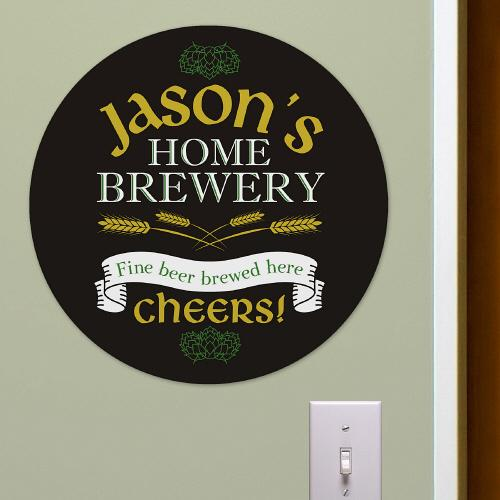 Home Brewery Round Sign-Personalized Gifts