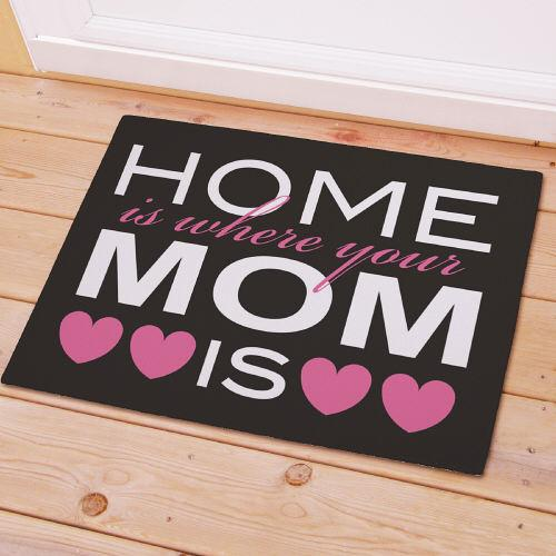 Home Is Where Your Mom Is Welcome Doormat-Personalized Gifts