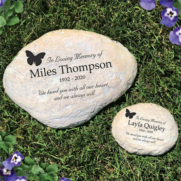 In Loving Memory Butterfly Garden Stone-Personalized Gifts