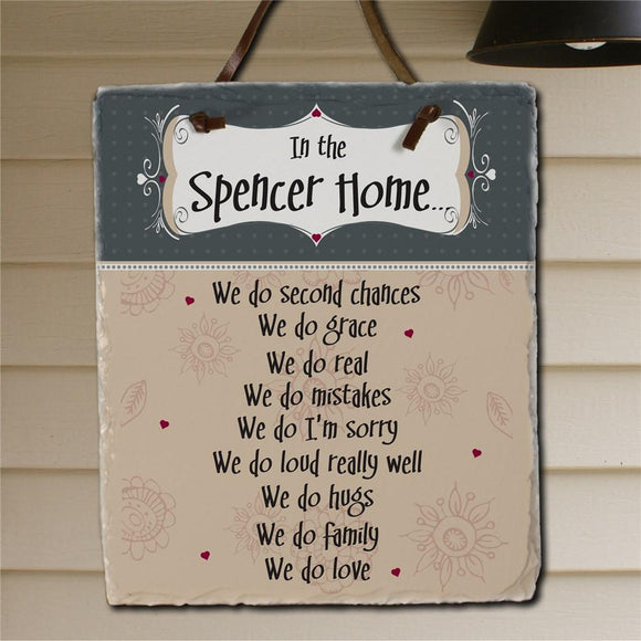 In Our Home Personalized Slate Plaque-Personalized Gifts