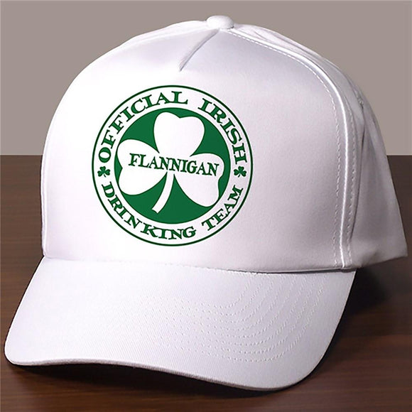Irish Drinking Team Personalized Hat-Personalized Gifts