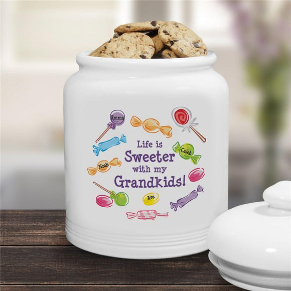Life Is Sweeter Personalized Cookie Jar-Personalized Gifts