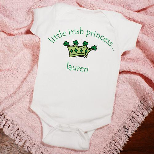 Little Irish Princess Infant Creeper-Personalized Gifts
