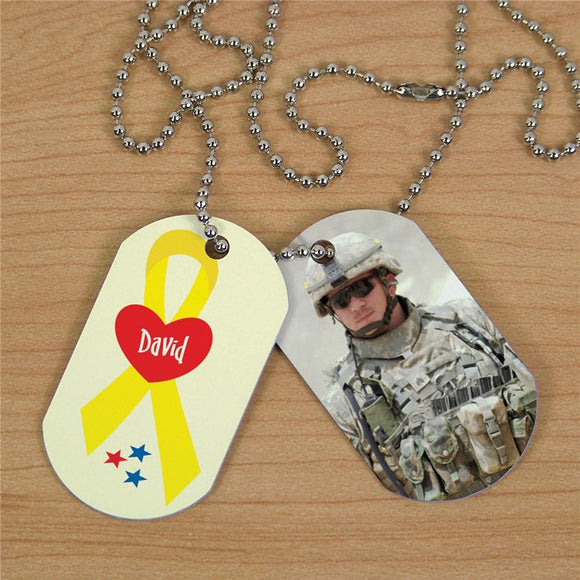 Military Personalized Photo Dog Tags-Personalized Gifts