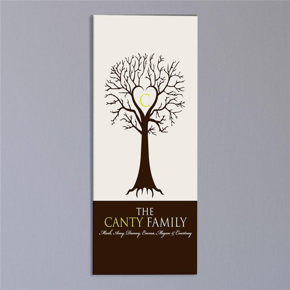 Monogram Family Tree Wall Canvas-Personalized Gifts