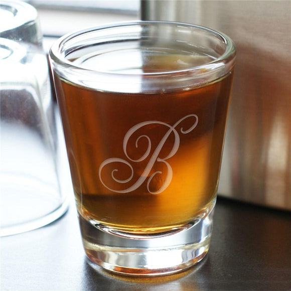 Monogram Shot Glass-Personalized Gifts