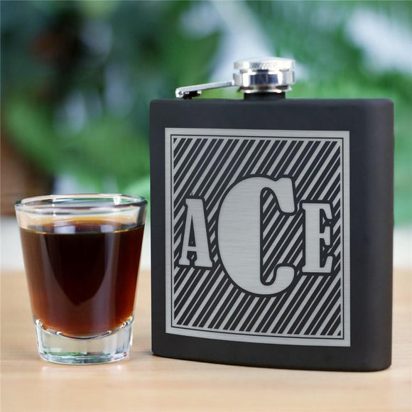 Monogram Steel Flask-Personalized Gifts