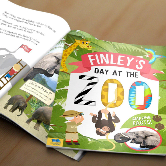 My Day at the Zoo Personalized Book-Personalized Gifts