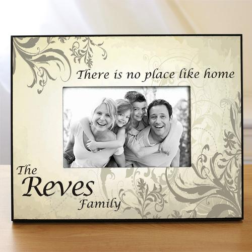 No Place Like Home Personalized Printed Frame-Personalized Gifts