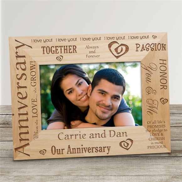 Our Anniversary Wood Picture Frame-Personalized Gifts