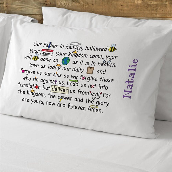 Our Father Prayer Personalized Pillowcase-Personalized Gifts