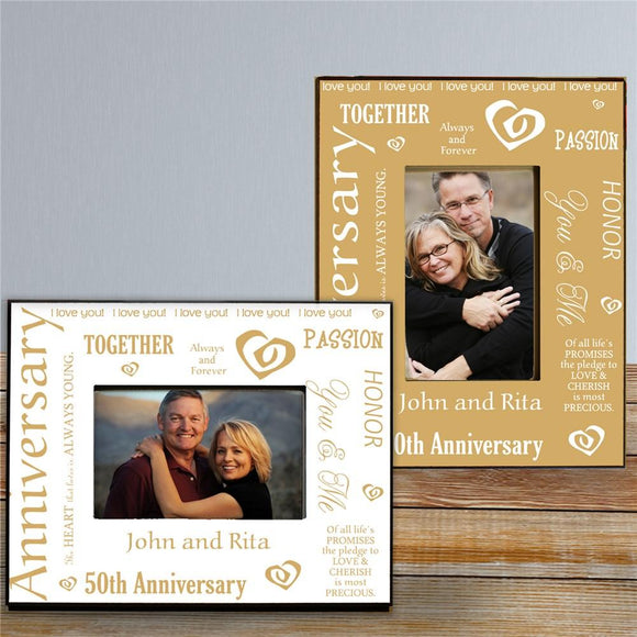Our Golden Anniversary Printed Frame-Personalized Gifts