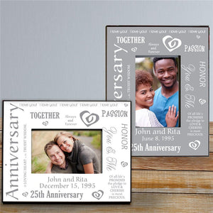 Our Silver Anniversary Printed Frame-Personalized Gifts