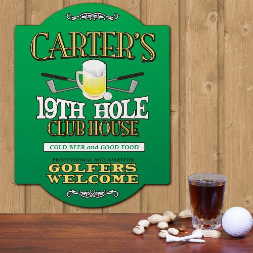 Personalized 19th Hole Golf Sign-Personalized Gifts