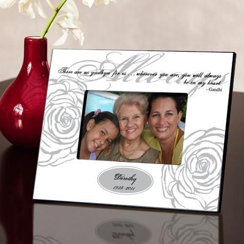 Personalized Always Memorial Picture Frame - White-Personalized Gifts