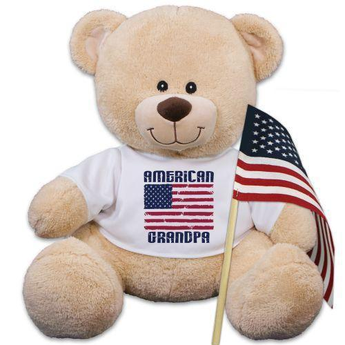 Personalized American Flag Teddy Bear-Personalized Gifts