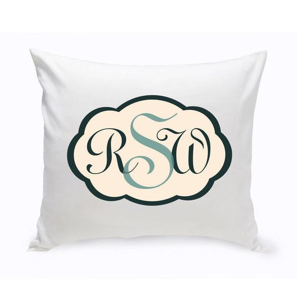 Personalized Baby Monogrammed Bermuda Blue Chevron Throw Pillow-Personalized Gifts