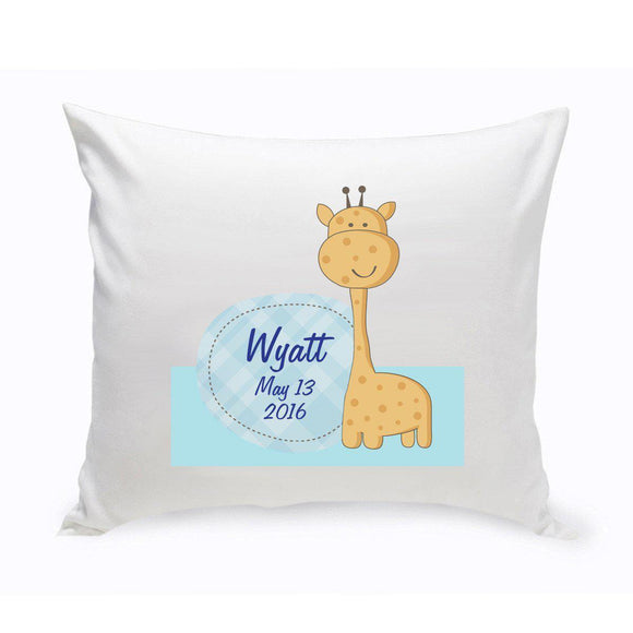 Personalized Baby Nursery Giraffe Throw Pillow-Personalized Gifts