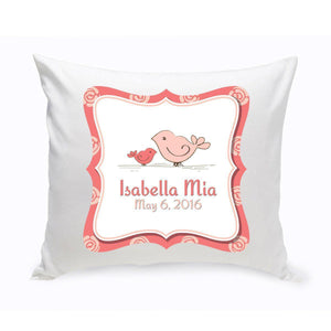 Personalized Baby Nursery Throw Pillow - Birdies-Personalized Gifts