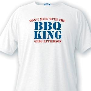 Personalized BBQ King Guys White T-Shirts-Personalized Gifts