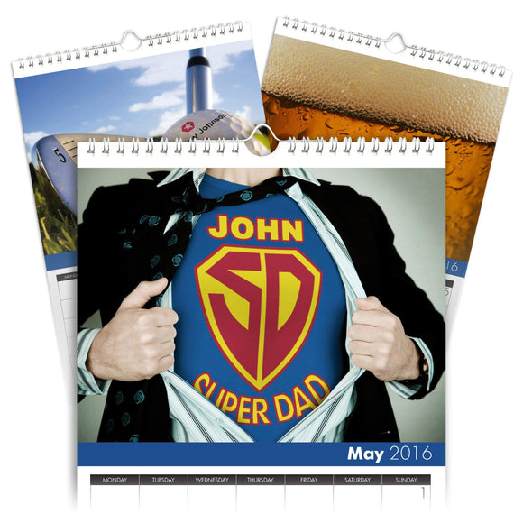 Personalized Best Dad Calendar-Personalized Gifts