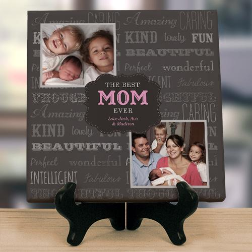 Personalized Best Mom Ever Photo Canvas-Personalized Gifts