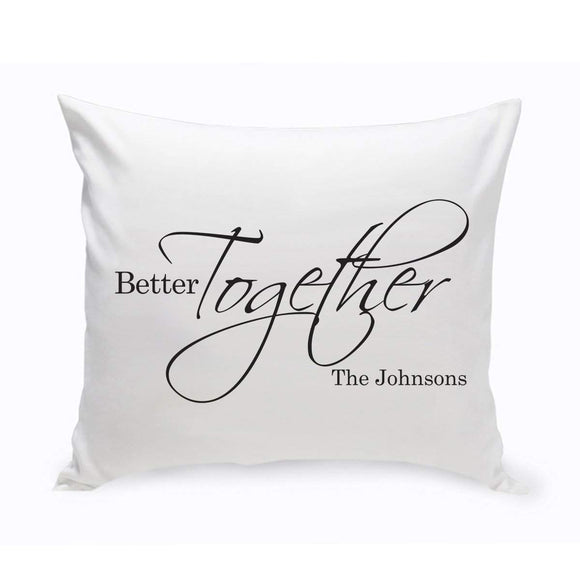Personalized Better Together Throw Pillow-Personalized Gifts