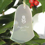 Personalized Beveled Glass Ornament - Bell Shape-Personalized Gifts
