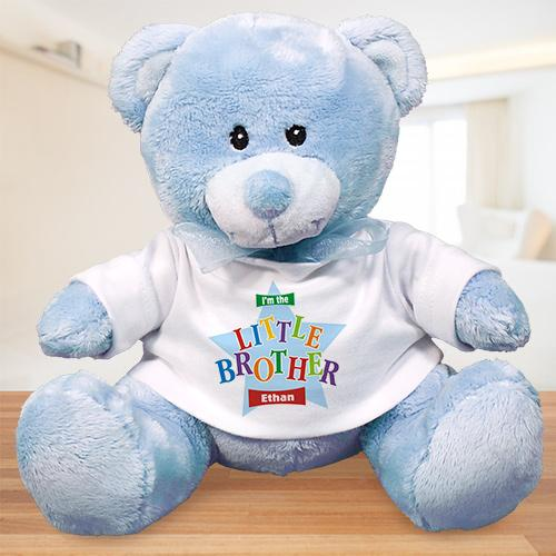 Personalized Big Brother Teddy Bear - Star Design-Personalized Gifts