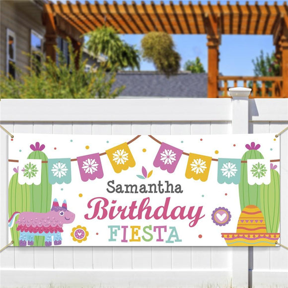 Personalized Birthday Fiesta Banner-Personalized Gifts