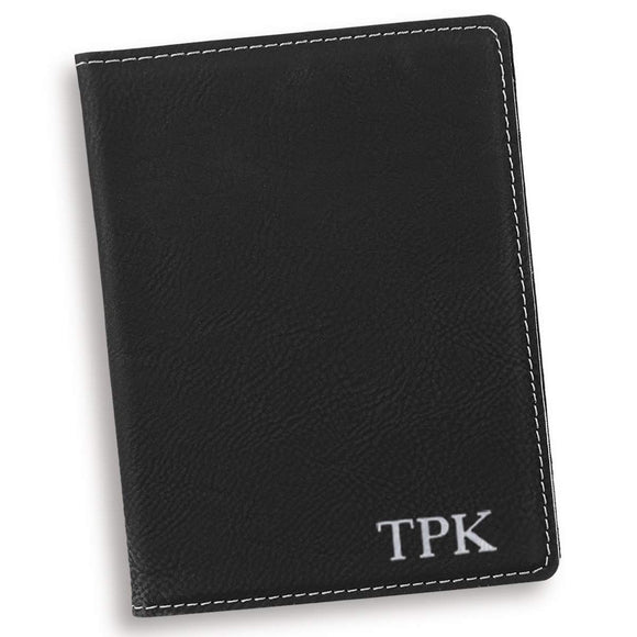Personalized Black Passport Holder-Personalized Gifts