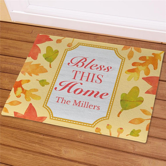 Personalized Bless This Home Welcome Mat-Personalized Gifts