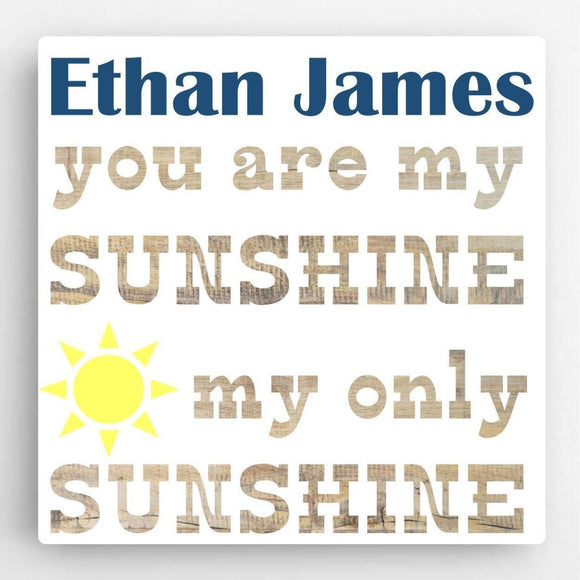 Personalized Boy Canvas Sign-Sunshine-Personalized Gifts