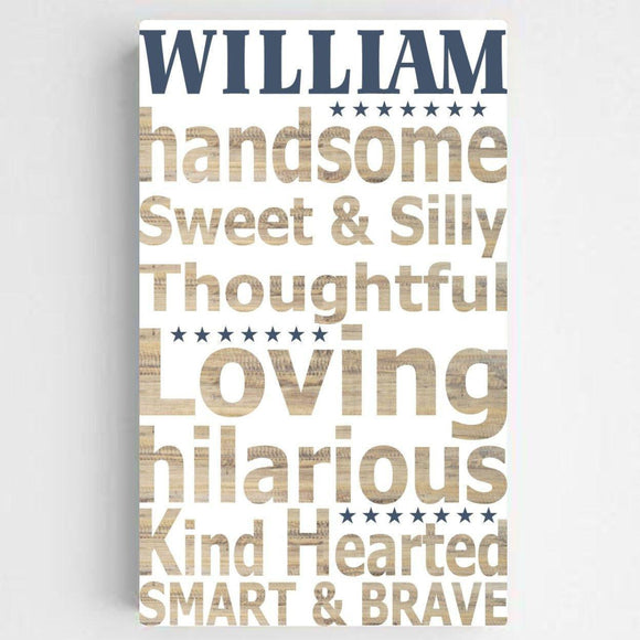 Personalized Boy Definition Canvas Sign-Personalized Gifts