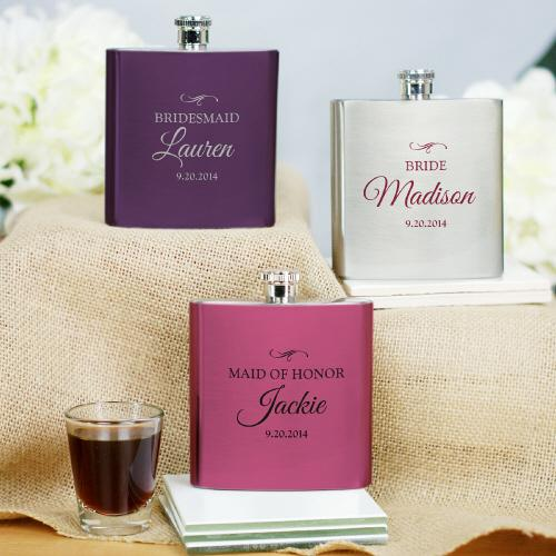 Personalized Bridal Party Flask-Personalized Gifts