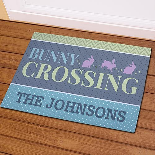 Personalized Bunny Crossing Doormat-Personalized Gifts