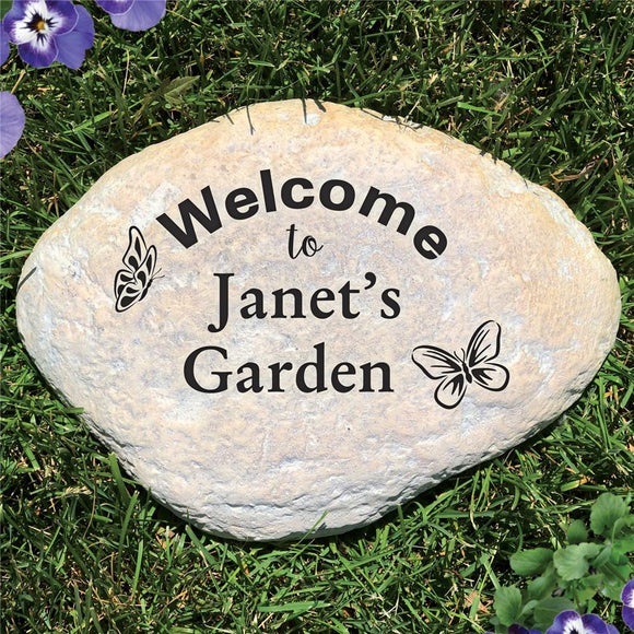 Personalized Butterfly Garden Stone-Personalized Gifts