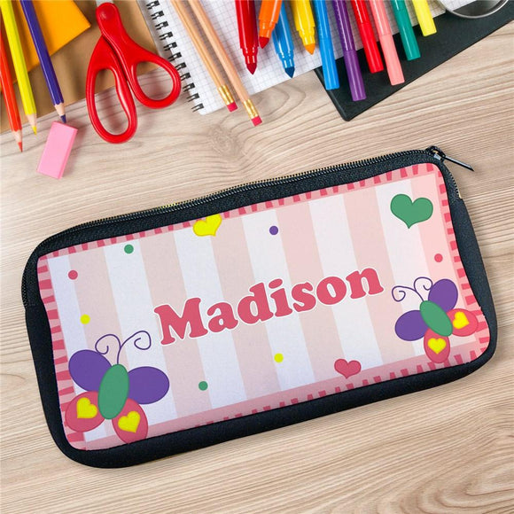 Personalized Butterfly Pencil Case-Personalized Gifts