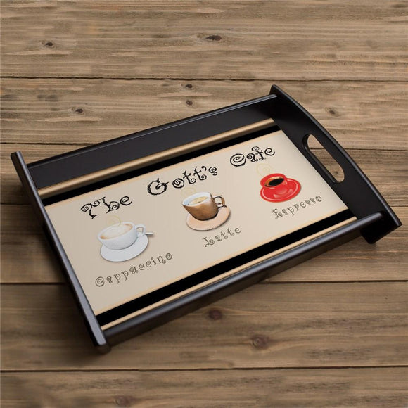 Personalized Cafe Serving Tray-Personalized Gifts
