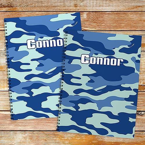 Personalized Camoflage Notebook set-Personalized Gifts
