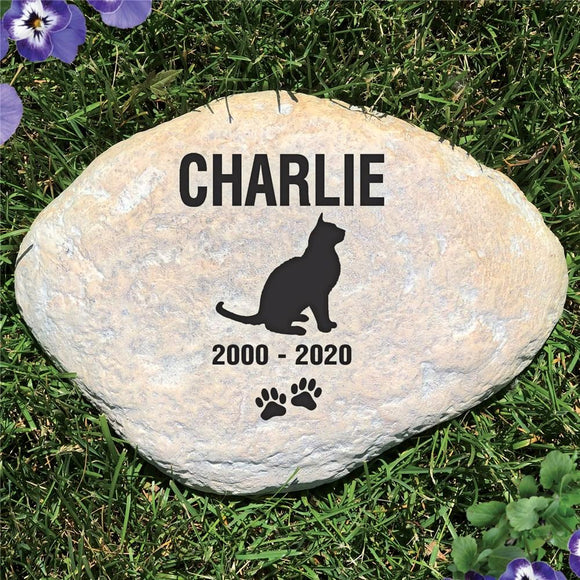 Personalized Cat Memorial Garden Stone-Personalized Gifts