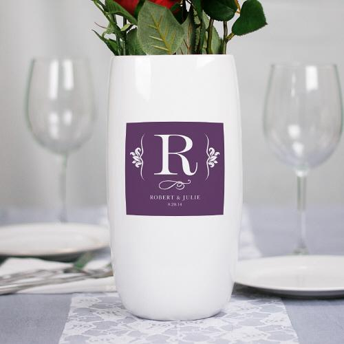 Personalized Ceramic Centerpiece Vase-Personalized Gifts