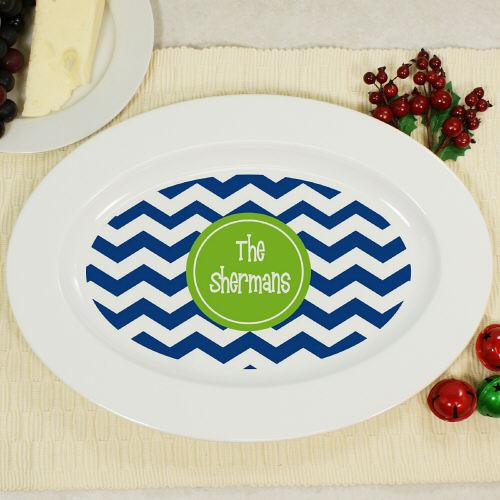 Personalized Chevron Serving Platter-Personalized Gifts