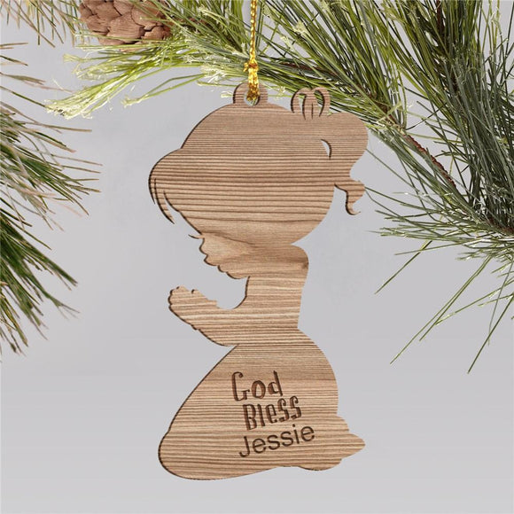Personalized Christian Christmas Ornament for Girls-Personalized Gifts