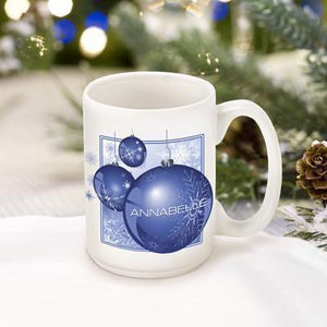 Personalized Christmas Ornament Coffee Mug-Personalized Gifts
