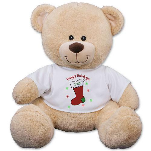 Personalized Christmas Teddy Bear-Personalized Gifts